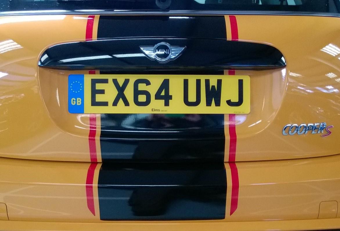 mini racing stripe rear