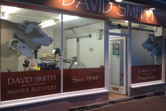 david smith shopfront floodlit